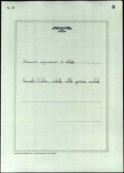 Consoli Pietro, Berzo S. Fermo (Bergamo)
