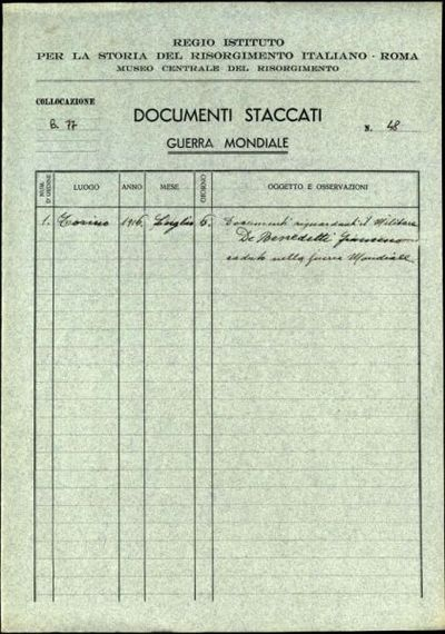 De Benedetti Francesco, Savona (Genova)
