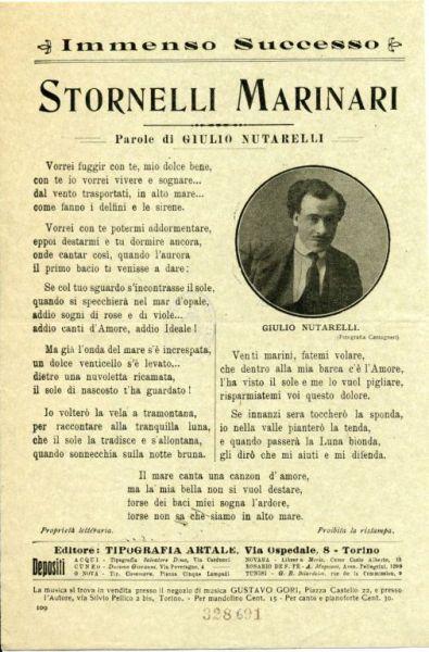 Stornelli marinari / parole di Giulio Nutarelli