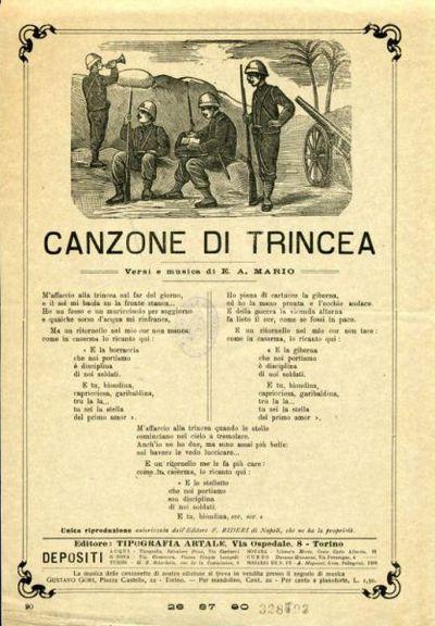 Canzone di trincea / versi e musica di E. A. Mario