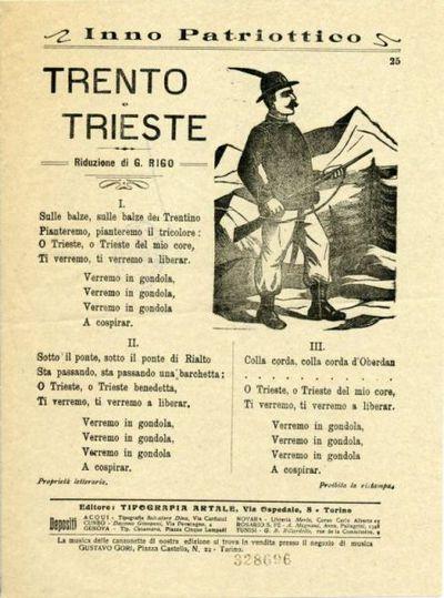 Trento e Trieste : inno patriottico / riduzione di G. Rigo
