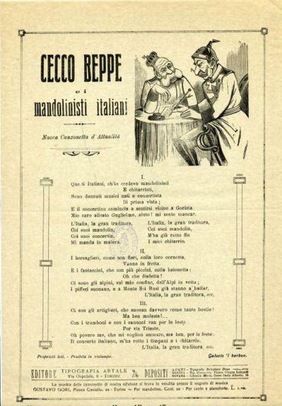 Cecco Beppe e i mandolinisti italiani : nuova canzonetta d'attualita
