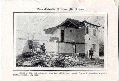 Casa distrutta di Passarella (Piave) ; Il lavatoio pubblico