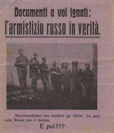Documenti a voi ignoti: l'armistizio russo in verità