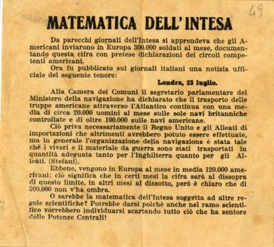 Matematica dell'Intesa