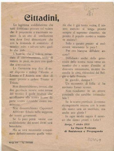 Cittadini.../ Opere federate di assistenza e propaganda