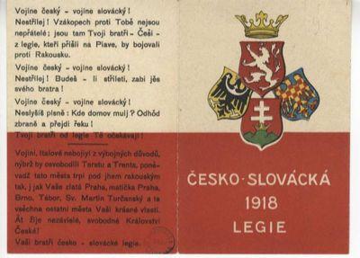 Ĉesko-slovácká 1918 legie