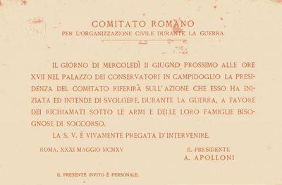 Comitato romano per l'organizzazione civile durante la guerra