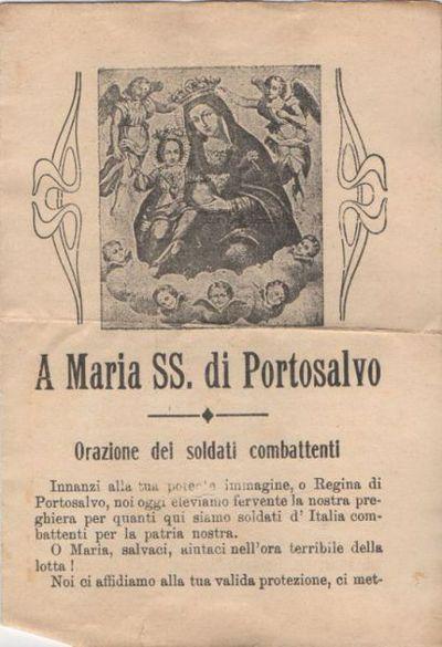 A Maria SS. di Portosalvo : Orazione dei soldati combattenti