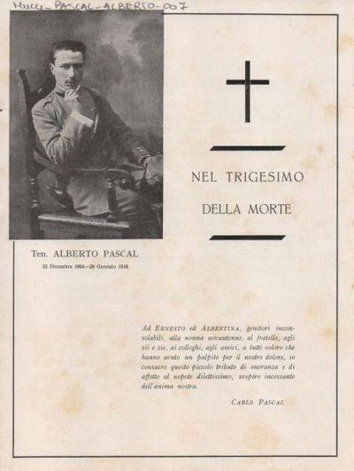 Nel trigesimo della morte, ten. Alberto Pascal 23 dicembre 1894 - 28 gennaio 1918 / Carlo Pascal