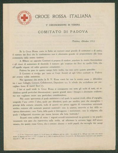 Padova, Ottobre 1915