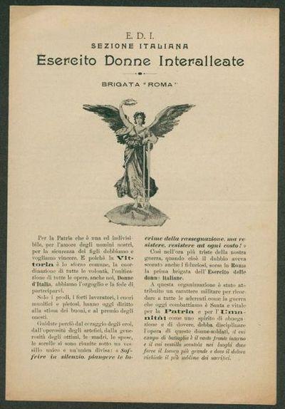E.D.I., Sezione italiana, Esercito Donne Interalleate, Brigata Roma