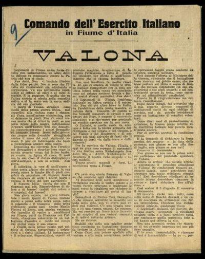 Valona  / il comandante Gabriele d'Annunzio