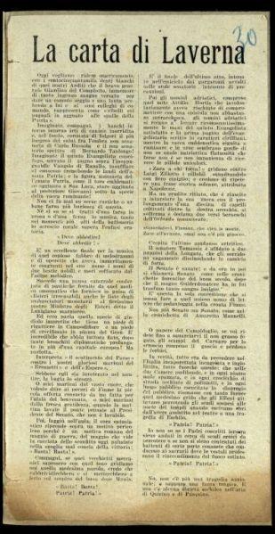 La carta di Laverna  / Gabriele d'Annunzio