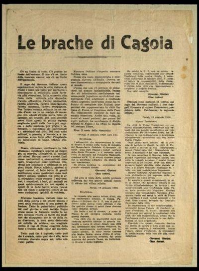 Le brache di Cagoia  / Gabriele d'Annunzio