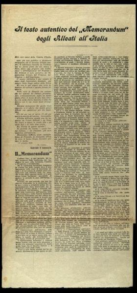 Il testo autentico del Memorandum degli Alleati all'Italia  / Gabriele d'Annunzio