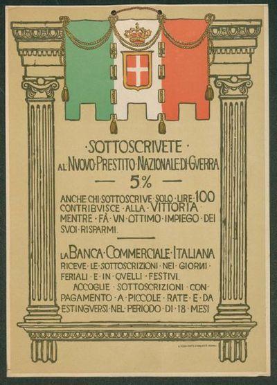 Sottoscrivete al nuovo prestito nazionale di guerra 5%  / Banca commerciale italiana
