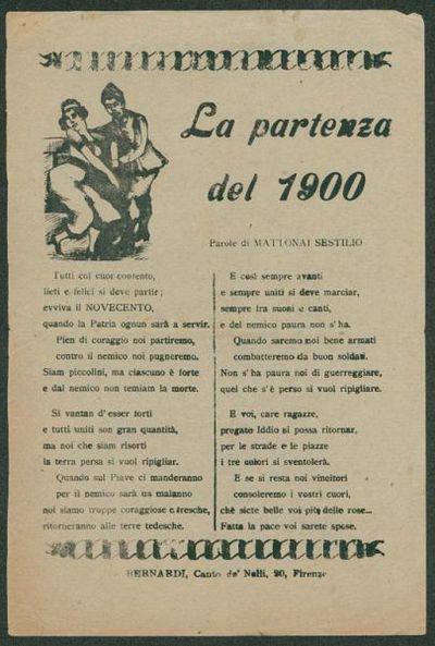 La partenza del 1900  / parole di Mattonai Sestilio
