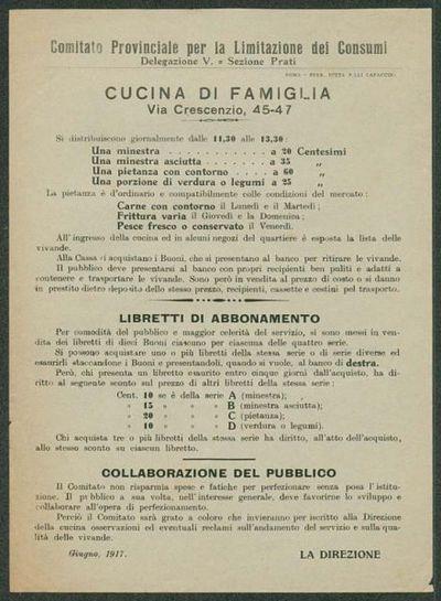 Cucina di famiglia  / Comitato Provinciale per la Limitazione dei Consumi