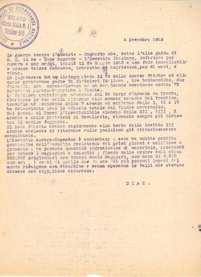 4 Novembre 1918 / Ufficio tecnico di Propaganda Nazionale