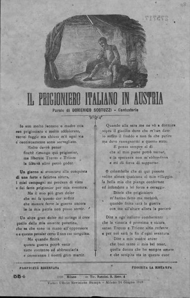Il prigioniero italiano in Austria / parole di Domenico Scotuzzi