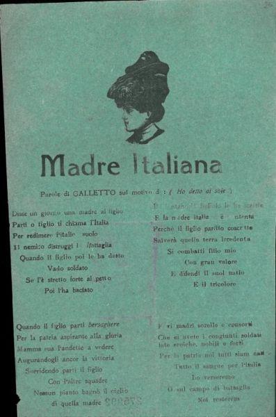 Madre italiana / parole di Galletto
