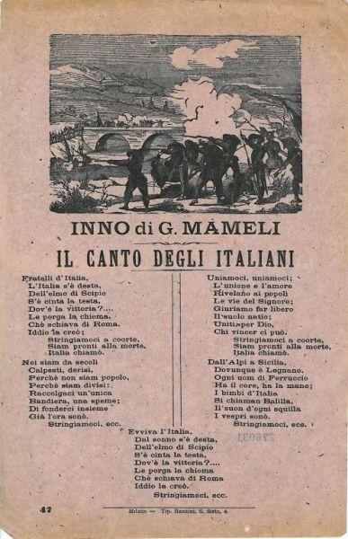 Inno di G. Mameli : il canto degli italiani