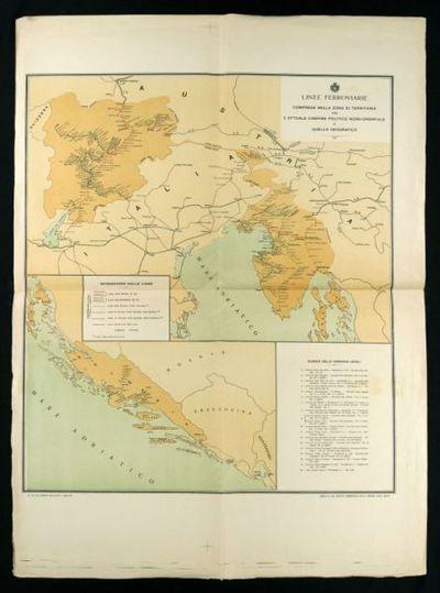 Linee ferroviarie comprese nella zona di territorio fra l'attuale confino politico nord-orientale e quello geografico  / compilata dal servizio commerciale delle Ferrovie dello Stato