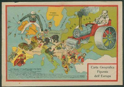 Carta geografica figurata dell'Europa