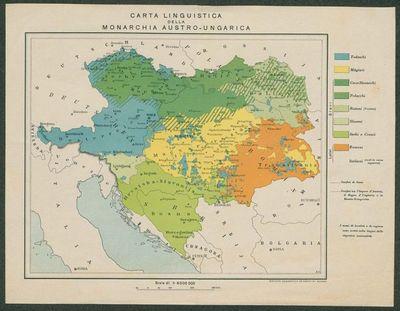 Carta linguistica della monarchia austro-ungarica