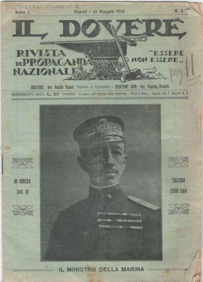 Il dovere : rivista di propaganda nazionale