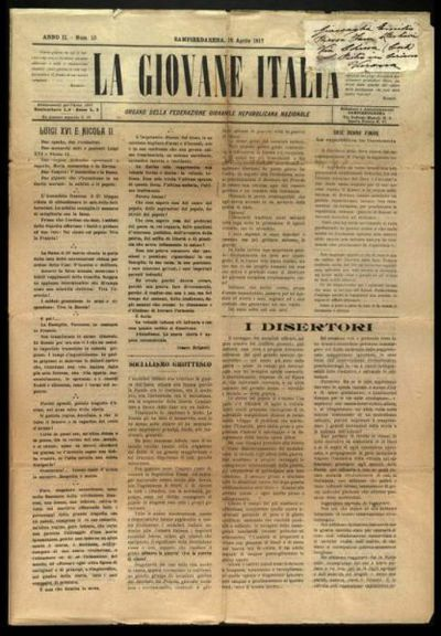 La giovane Italia : organo della Federazione giovanile repubblicana nazionale