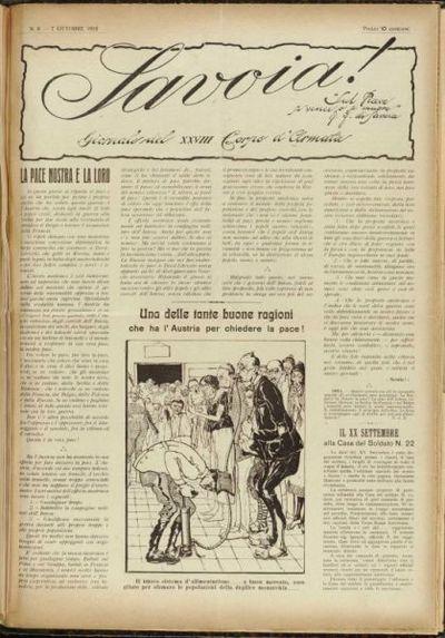 Savoia! : giornale del 28. Corpo d'Armata