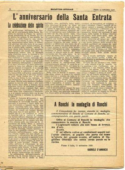 Bollettino ufficiale del Comando di Fiume d'Italia