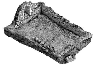Temple-na-Skellig, Glendalough (sampled 3D point-cloud model)