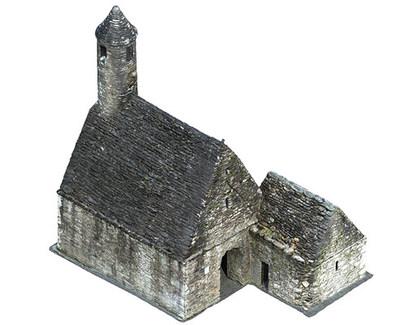 St Kevins Church, Glendalough (turntable movie, photo texture)