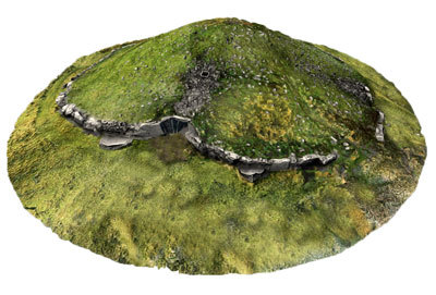 Cairn T, Loughcrew (3D model, textured)