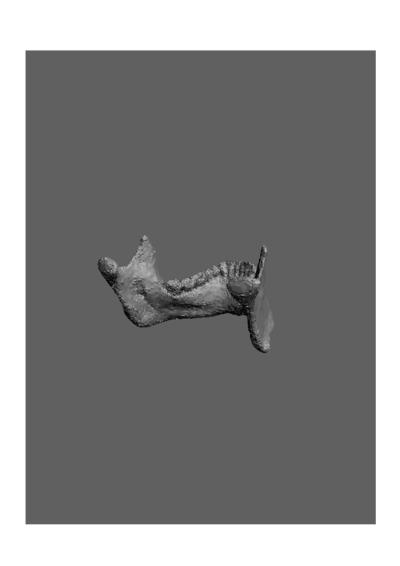 Mandibula humana de uma jovem adulta do sexo feminino, com número de colecção 1673 da colecção de Antropologia Luís Lopes, do Museu Nacional de História Natural e da Ciência, Lisboa, Portugal.