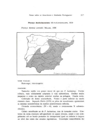 Ficha reunindo informação sobre o Rato-cego-mediterrânico, da espécie Microtus duodecimcostatus de Selys-Longchamps, 1839, em Portugal.