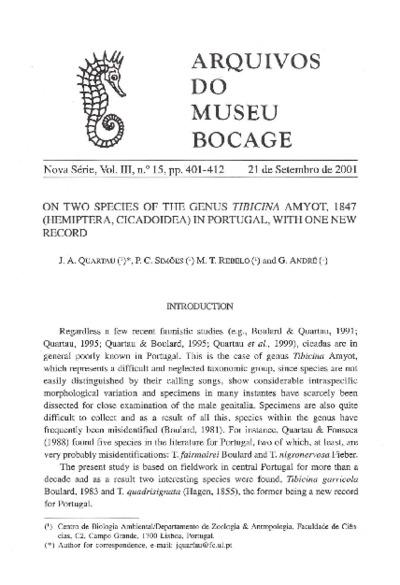 Tibicina garricola Boulard, 1983; Tibicina quadrisignata (Hagen, 1855)
