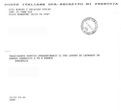 Telegrammi Leonardo da Vinci: lezione-spettacolo di e con Dario Fo  - 1999