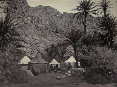 Accampamento di una carovana a Faran