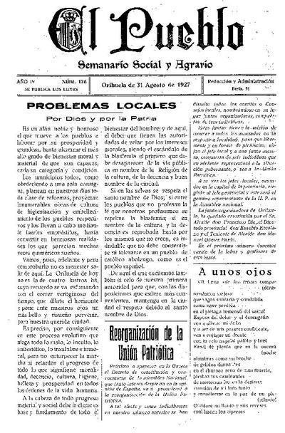 El Pueblo : semanario social agrario