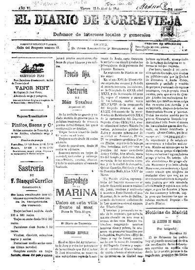 El diario de Torrevieja (1887)