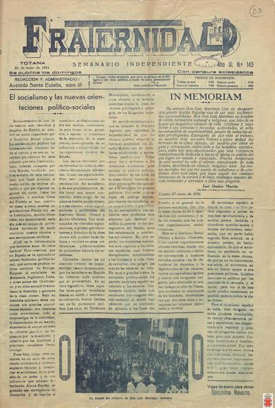Fraternidad : semanario independiente