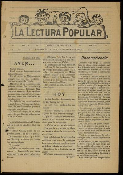 La Lectura Popular [Texto impreso]