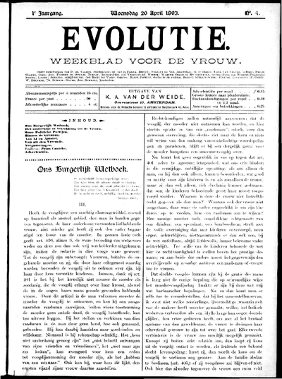 Evolutie: weekblad voor de vrouw, jaargang 01, nummer 04