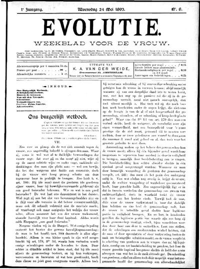 Evolutie: weekblad voor de vrouw, jaargang 01, nummer 08