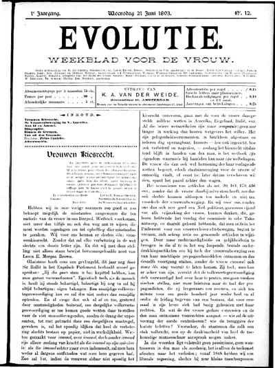 Evolutie: weekblad voor de vrouw, jaargang 01, nummer 12