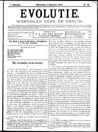 Evolutie: weekblad voor de vrouw, jaargang 01, nummer 18